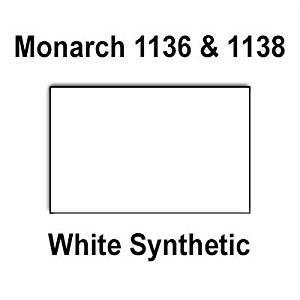 112,000 Monarch 1136/1138 compatible White General Purpose Labels to fit the Monarch 1136, Monarch 1138 Price Guns. Full Case + includes 8 ink rollers.