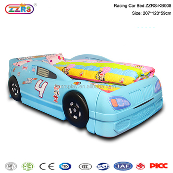 fashion children furniture comfortable plastic bed kids race car bed