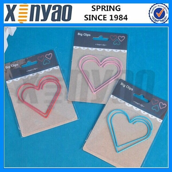 Pink and red color Beautiful Heart shaped paper clip
