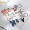 wholesale fashion and beautiful keychain best metal and acrylic key ring for women and girls