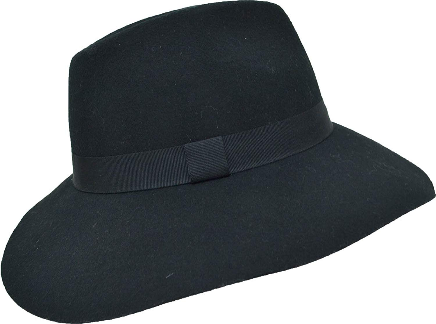 6f132a54970 reduced get quotations august hat company womens large felt fedora hat  black gold 00238 46cfd