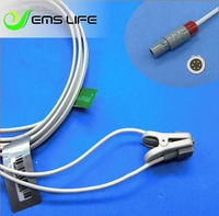 Long cable child or neonate ear clip spo2 sensor for HEAL FORCE