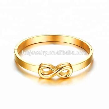 15697cd4f152e7 Saudi Arabia Jewelry 18k Gold Infinity Love Design Bracelet For Men ...