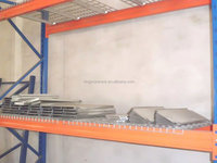 Racking storage system use steel wire mesh decking panel