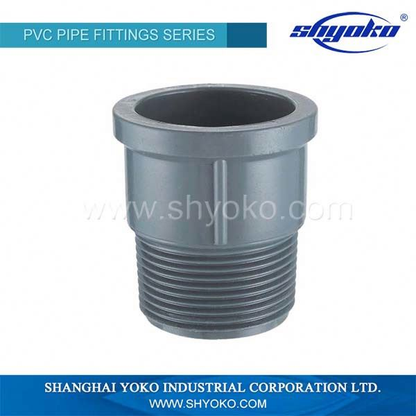 Best price plastic pipe fittings DIN STANDARD PN10 PVC Pipe Fitting Male adapter
