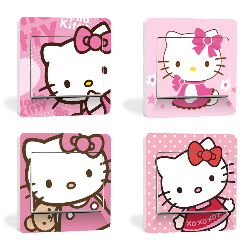 Hello Kitty Home Decor: Hello The Kitty New Creative Home Decor Wall Stickers