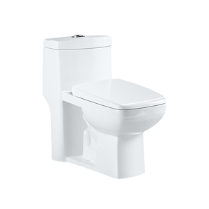Chinese factory bathroom WC dual flush one piece siphonic jet flush toilet with cheap price