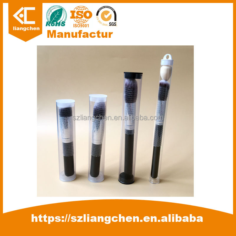 Custom Plastic Tubes manufacturer Wholesale Cheap clear PVC tube Diam 8mm with round plastic end caps 122