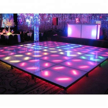 light weight interactive led dance floor with starlit effect