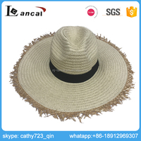Lancai- TS14969 certification fashionable style 100% paper wide brim fedora hat