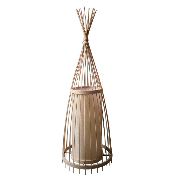 Korean style crafts woven lampshade wholesale Modern Lights Rattan Bamboo desk wall Lampshade for hotelroom decorative