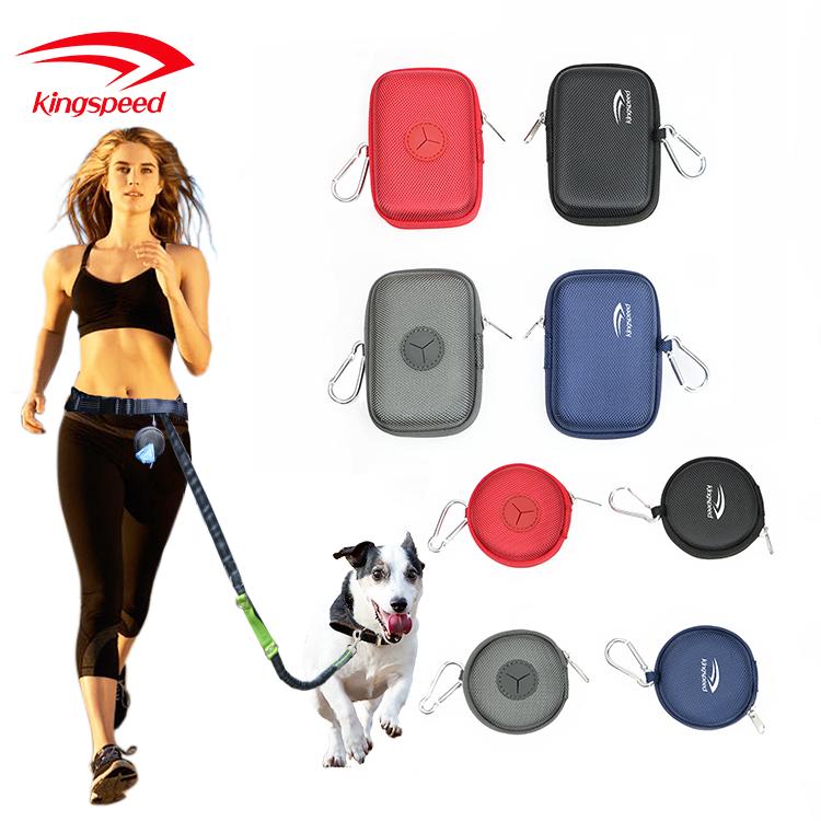 Amazon best selling custom logo round pet waste bag poop bag dispenser with carabiner