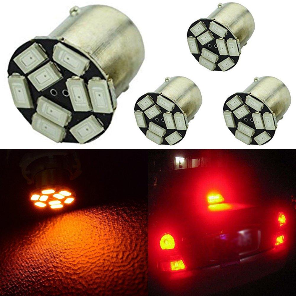 10pcs Smautop 1156 Led Car Turn Signal Lights Bulb Stop Brake Lights UK