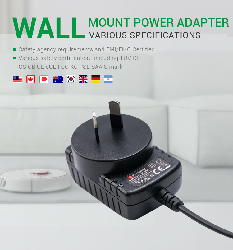 IRAM/S-Mark approved Argentina adaptor 12v 800mA AR plug power adapter for vacuum cleaners