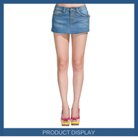 Fashion name brand biker jeans ladys short jeans and skirt