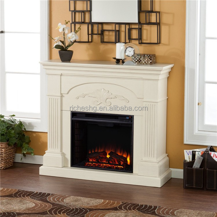 White Coating Mdf Fireplace Wood Frame,French Fireplace Mantel ...