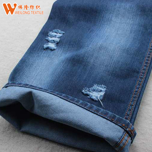 Clothes Fabric Accept Coated Stretch Denim Fabric For Jeans