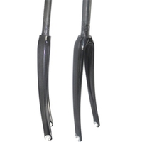 "700C Road bicycle fork UD/3k Full Carbon Fibre Road Bike frame Fork bicycle parts carbon 1-1/8""-1-1/8'' super light fork"