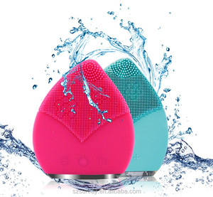 Private label Rechargeable mini electric massager silicone facial cleanser face cleansing brush