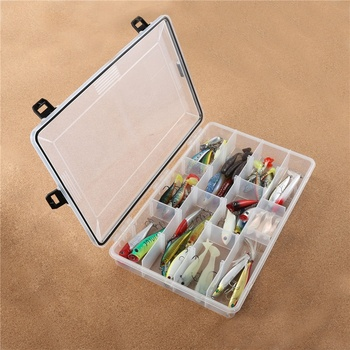 PALADIN Wholesale 22 Compartments Plastic Fishing Tackle Boxes for Saltwater Freshwater Fishing