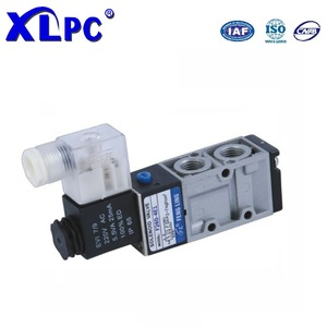 2 position 5 way single coil air compressor pneumatic solenoid valve