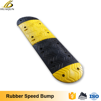 latest designs yellow reflective rubber traffic speed bumps parking lot speed bumps - Rubber Speed Bumps