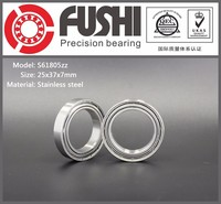 China Supplier 25*37*7 mm Stainless Stell Ball Bearing SS61805
