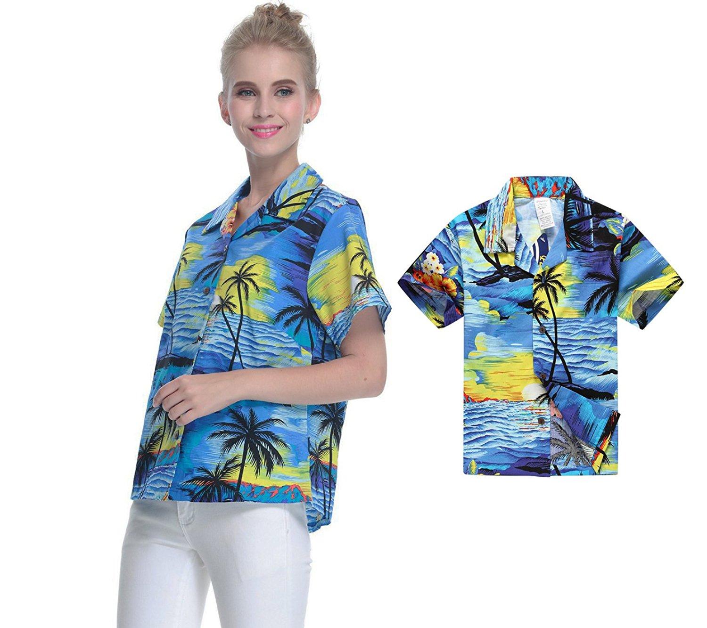 8c811ec6650f Hawaii Hangover Matching Mother Son Hawaiian Luau Women Shirt Boy Shirt  Sunset Blue