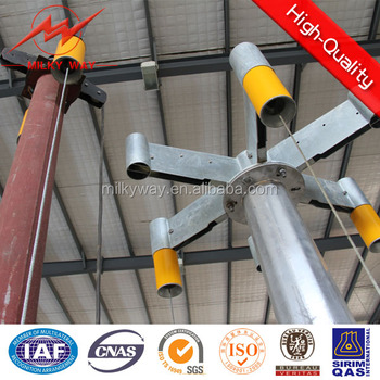 30m outdoor lighting galvanized high mast light pole for football stadium