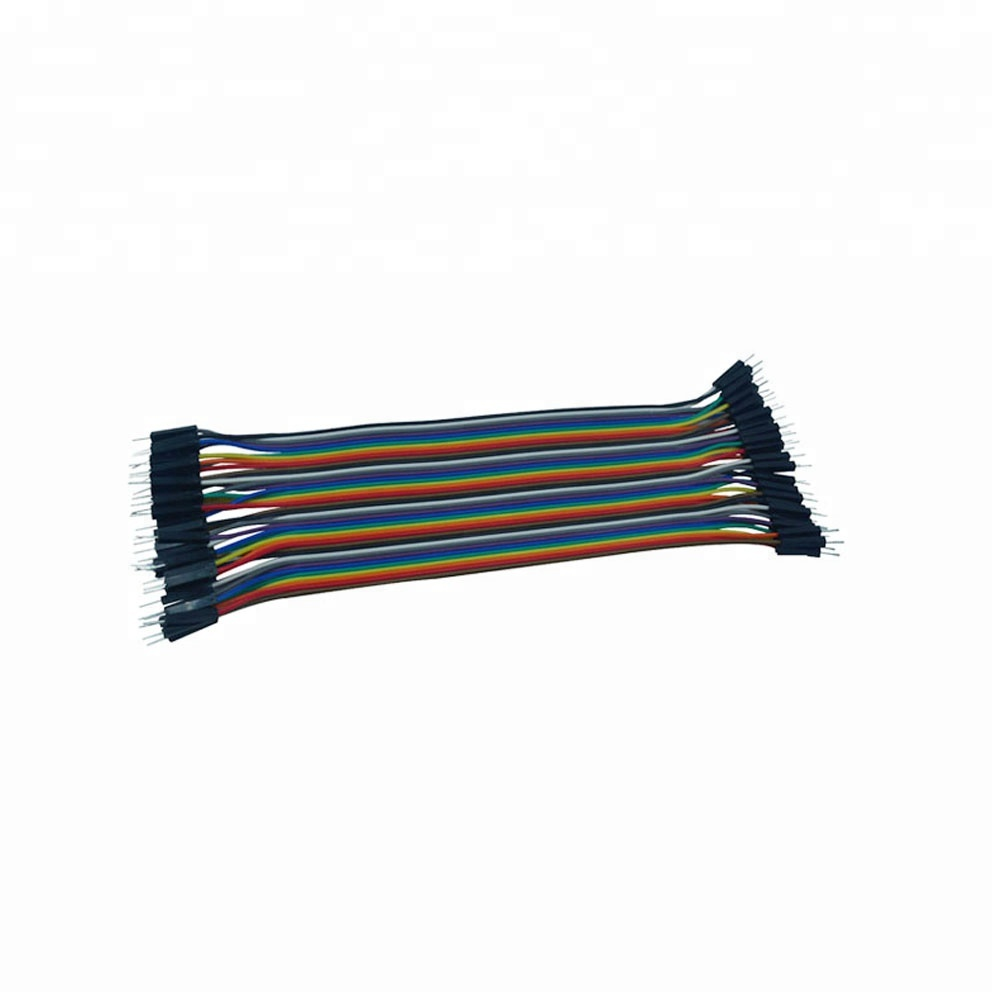 20cm Flexible Male Jumper Cable Test Lead breadboard spring clips Dupont <strong>Wire</strong>
