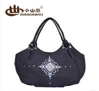 Popular Fashion Trend Ladies Handbag/Black Canvas Handbag