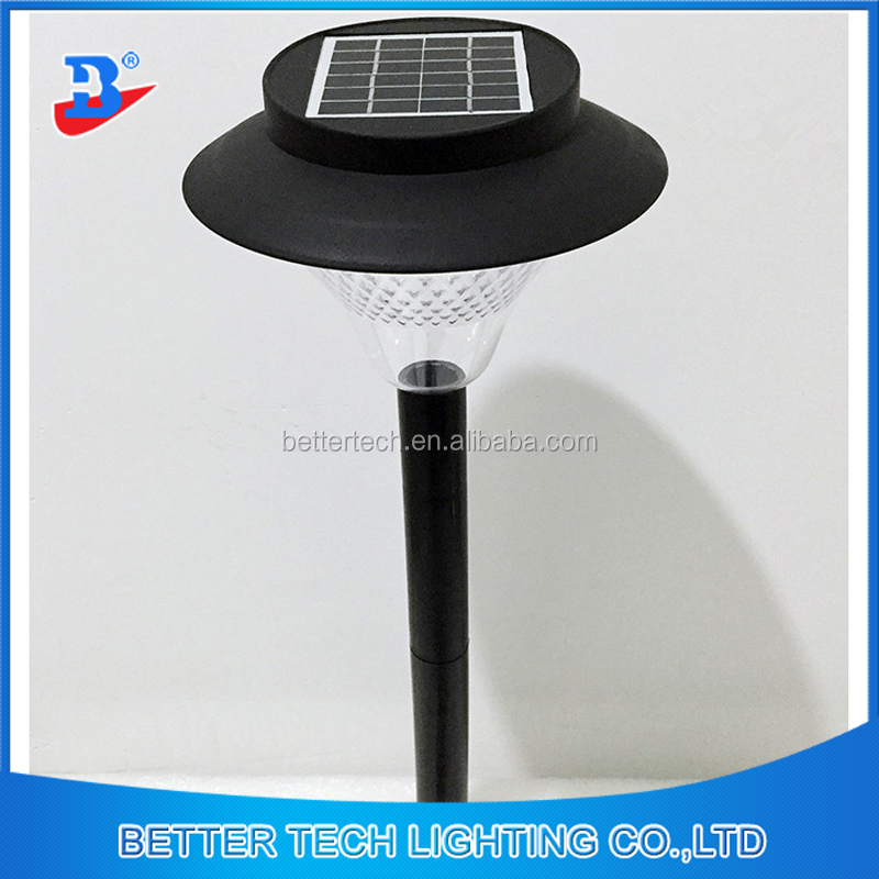2017 Newest 39LEDs Outdoor Lawn Solar Garden Light with black poles