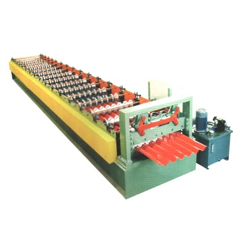 Roofing Top Sheet Galvanized Steel curving machine Corrugated Glazed Tile Metal Roofing Sheet Making Machine