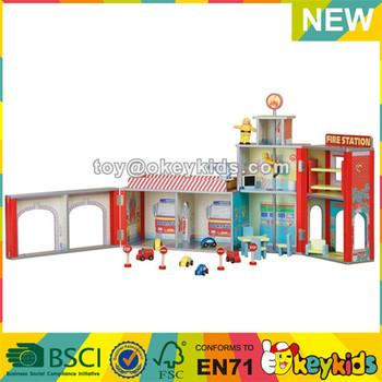 Wholesale Intelligent Wooden Kids Toy Fire Station Top Fashion Children Wooden Toy Fire Station W06a048 Buy Toy Fire Stationtoy Fire Stationtoy