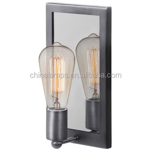 2016 nuevo diseño de metal espejo de luz led de pared lámparas de ...