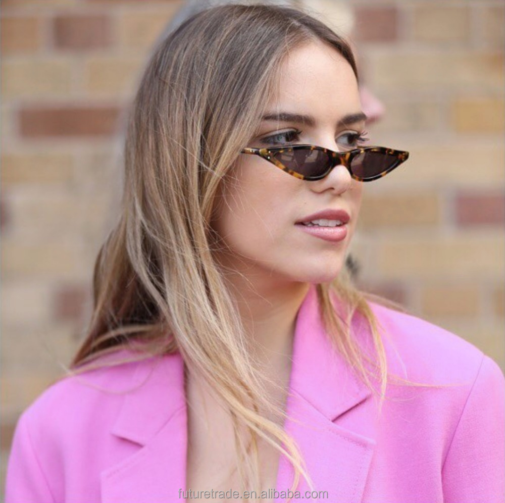Newest Small Cateye Sunglasses Women Vintage Triangle Eyeglasses 2019 Stylish Cateye Sun Glasses UV400 F95109 фото