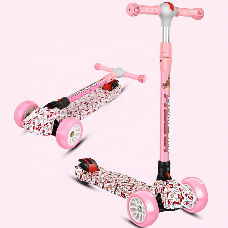 wholesale folding three wheel kids scooter