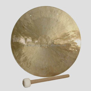golden surface wind gong with mallet from china producer