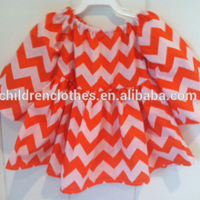 Usura occidentale Per Le Ragazze Manica Lunga Casual Colorful Chevron Dress