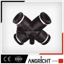 A117 pneumatic cross joint quick connect tube fitting,one touch push fit connector