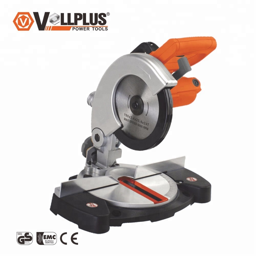 VOLLPLUS VPMC3001 850W 190mm Low Noise Aluminium Cutting Cut-Off Table Sliding Machine Induction Motor Miter Saw