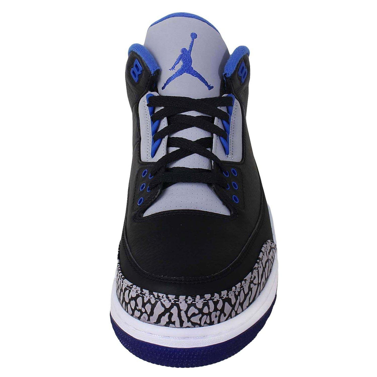 06f6c76b37c5 Get Quotations · Nike Air Jordan 3 Retro Sport Blue Leather Sneaker