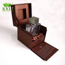 Luxurious custom sample made empty cardboard perfume satin lined gift packing boxes
