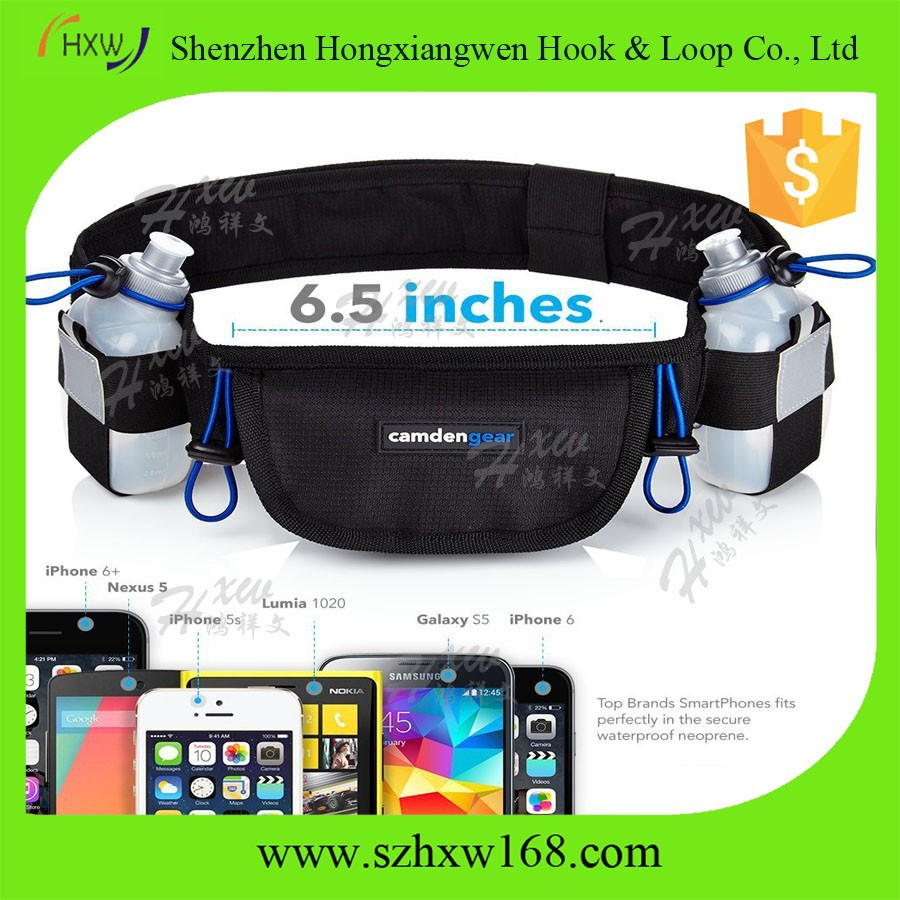 "Lightweight Comfortable Hydration Running Belt 6.5"" Pouch Fits All Smartphones"