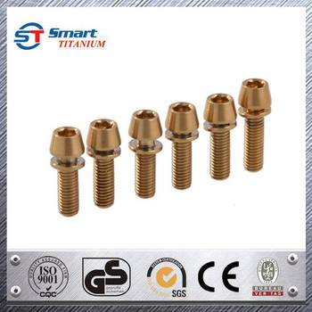 Bicycle Bike Titanium Conical Head Bolt Screw For Stem - Buy Pan Head Self  Drilling Screw Power Screw Materials Screw,Custom Made Brass Camera Tripod