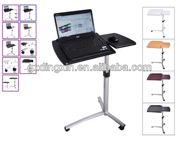 Angle Height Adjustable Rolling Laptop Desk Over Bed Hospital Table Stand  (DX BJ11)