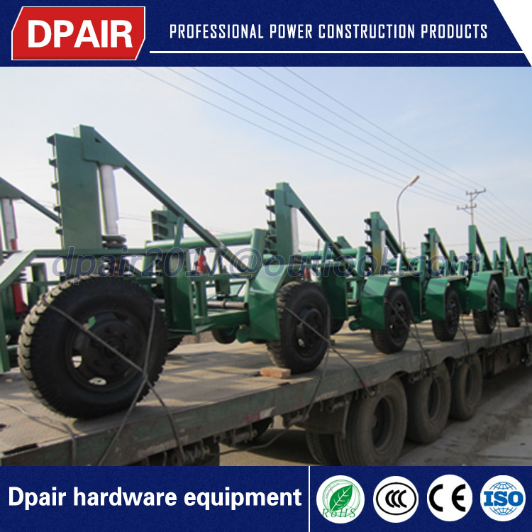 cable reel carrier for cable laying