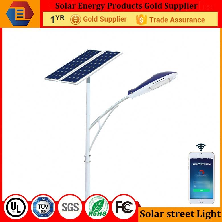 KTG IP65 Single arm 5m pole 50w Solar LED Street Road Light with all equipments /LYBRSST5MB657