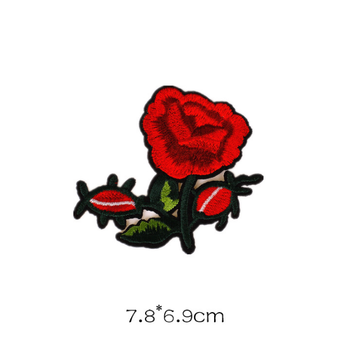 c922468c081b Wholesale Flower Design Embroidery Patch Custom Iron On Rose Patches ...