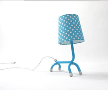 Modern Table Lamps Dot Fabric Shade Reading/Book LED Desk Light Fashion Decoration Lightng Lovely Cartoon Characters 2 Colors